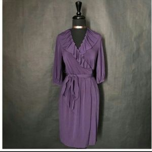 MAX & CLEO PURPLE WRAP DRESS (S)